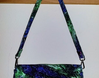 Northern Lights Handbag / Clutch - Purse with multiple compartments