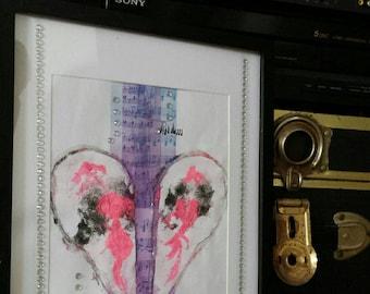 Music Heals the Broken/Music/Musician/Healing/Heart/Painting / Framed Print / Art