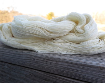 Bare Merino Superwash Laceweight Yarn, undyed yarn