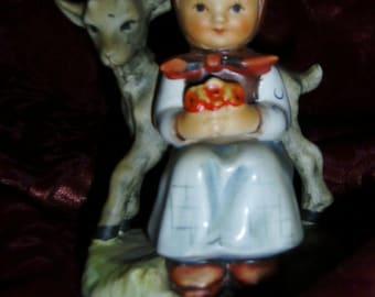 "Hummel Goebel ""Good Friends"" Girl With Lamb Germany"