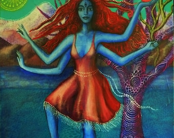 Kali, Kali-esque, Original Painting.