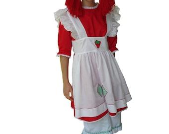 Custom Boutique Halloween STRAWBERRY SHORTCAKE Adult Size Costume Set