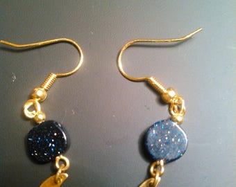 Moon and sky earrings