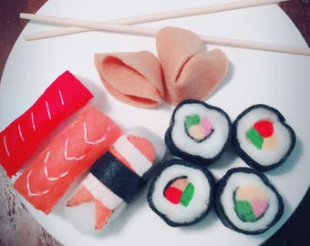 Felt Sushi and Fortune cookies!