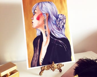 Desree GOLD, Fashion Illustration Limited Edition Wall Art Print