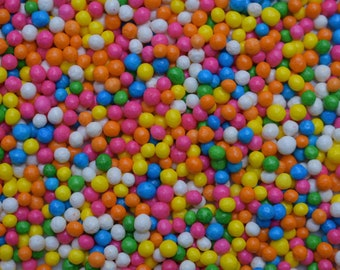 Edible Sprinkles - Rainbow Crisp Candy Jumbo Nonpareils - 3 oz