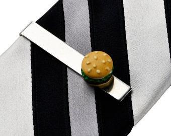 Hamburger Tie Clip