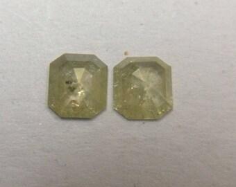 0.57 ct Natural off white square cut Diamond I3 clarity R37
