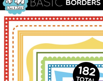 BASIC Borders 182 Simple and Colorful Clip Art Borders for Personal and Commercial Use
