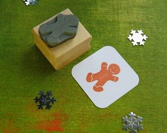 Christmas Rubber Stamp - Mini Gingerbread Man Rubber Stamp - Gift for Foodie - Christmas Stationery - Christmas Stamper - Stocking Stuffer