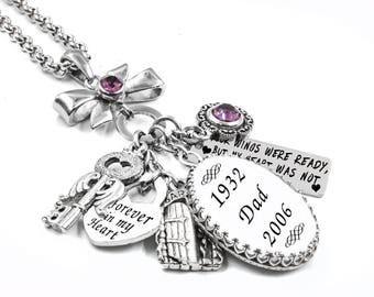 Charm Necklace, Memorial Necklace, Keepsake Jewelry, Personalized Jewelry, Memorial Charms