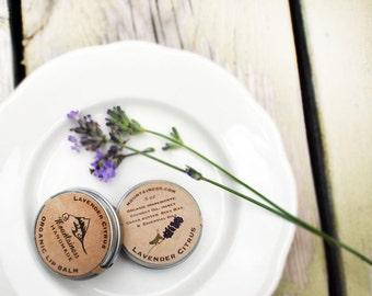 Organic Lip Balm / organic lavender lip balm organic lip balms organic orange purple lip balm floral lip balm  made to order organic lipbalm