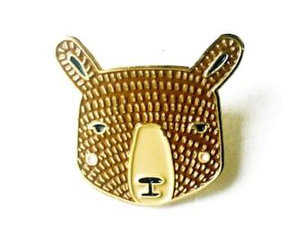 Bear Enamel Pin, Bear Brooch, Bear Jewelry, Bear Accessories, Bear Badge, Bear Lapel Charm, Cute Animal Badge, Kids Bear Pin