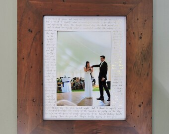 Custom Photo Mat, Wedding Song Lyrics, Anniversary Gift, Paper Anniversary, Gold, Silver, Rose Gold, Black Foil