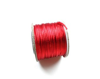 Approximately 30 meters of 1.5 mm red Rattail Nylon cord