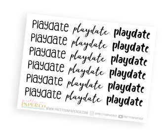 Playdate - Typography Stickers