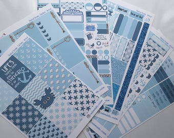 Nautical Dreams Weekly Sticker Kit