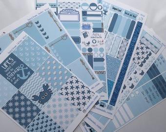 Nautical Dreams Weekly Sticker Kit