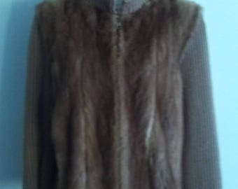 80's Mink Sweater Jacket