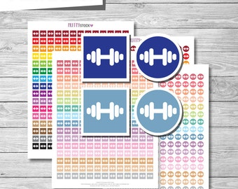 Workout Stickers, Printable Workout Stickers, Workout Planner Stickers, Fitness Planner Stickers, Printable Fitness Stickers - PS24