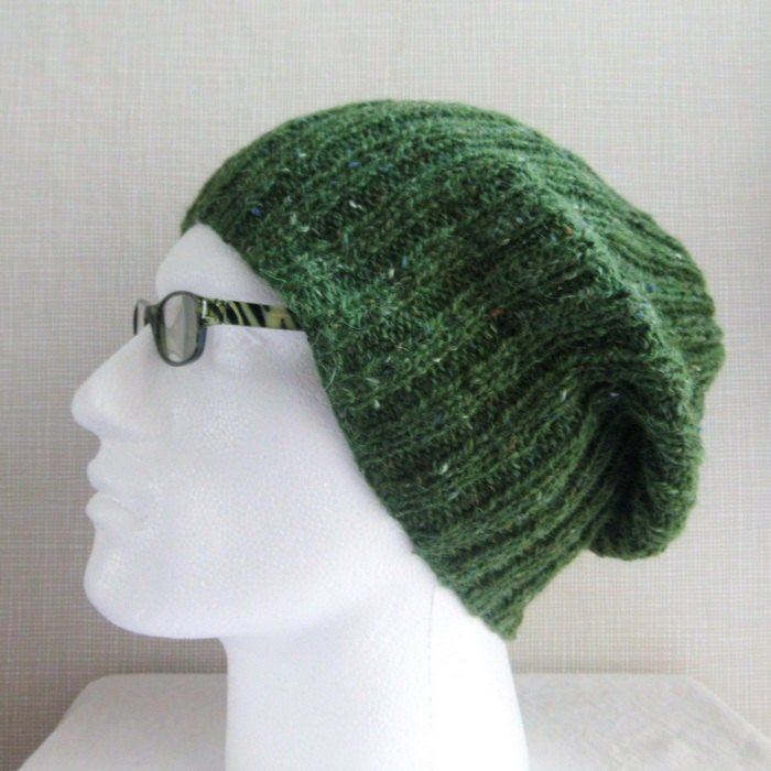KNITTING PATTERN Mens Slouch Hat Easy Knitting Pattern Knit Round ...