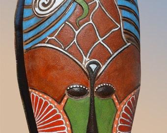 Vase XXL 175cm - African Mask