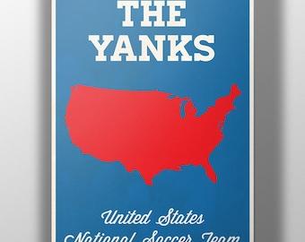 World Cup 2014- USA Team Soccer Print