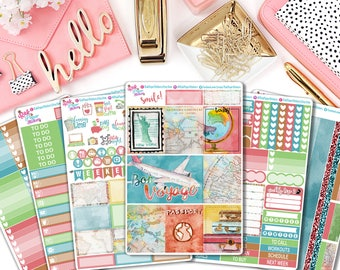Bon Voyage - Weekly Kit for Erin Condren Vertical, or other planner