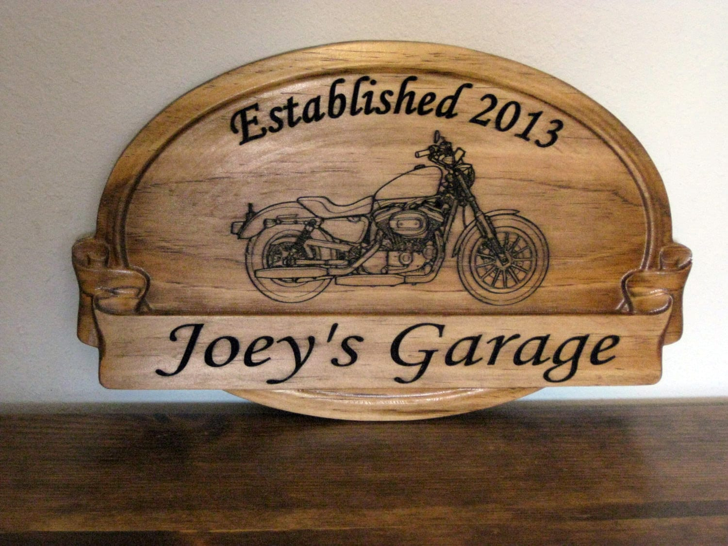 Sign with Harley Davidson Graphic Unique Gifts for Him Garage