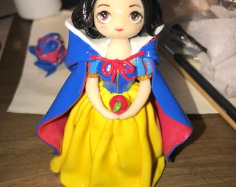 Snow White figurine polymer clay (made to order)