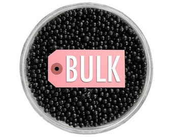 Black Non-Pareils BULK (1lb) - vibrant tiny black sprinkles for decorating cupcakes, cakes, cakepops, cookies, and ice cream