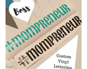 Hashtag Mompreneur vinyl car decals
