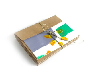 "Painted Cards – Set of 8 – ""Sunbursts"""