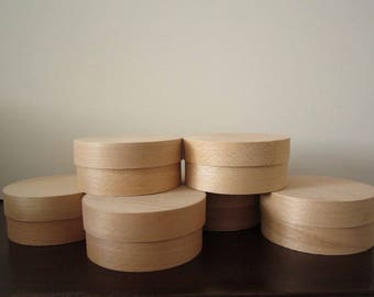 6 pieces - 5,51 х 1,96 in./Q145х55 мм Cheese box , wood boxes, decoupage boxes, unfinished unpainted natural box, round wood box cheese