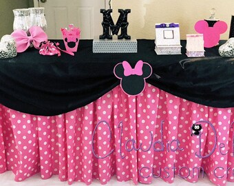 Minnie theme- Polka Dot Table Skirt