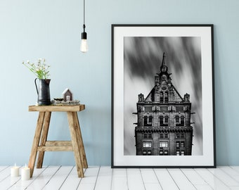 The Sherry-Netherland - New York Photography, Black and White, Architecture, Wall Art, NYC, Fine Art Print, Urban Art, Home Decor