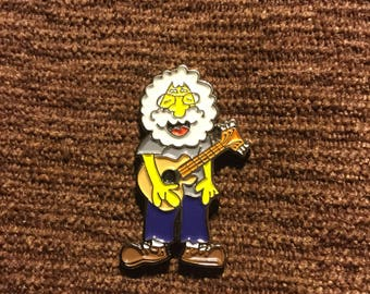 Grateful dead Jerry Garcia hat pin