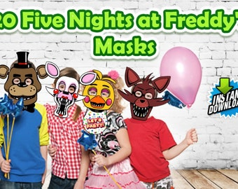 Five Nights at Freddy's Masks FNAF for Birthday's or any Party Instant download Printable