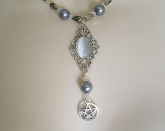Pentacle Necklace, wiccan jewelry pagan jewelry wicca jewelry witch pentagram necklace witchcraft magic pagan necklace wiccan necklace
