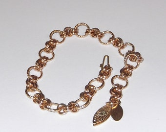 14K Gold Filled, Chainmaille, Charm, Bracelet/Bracelet Only, Charms Separate