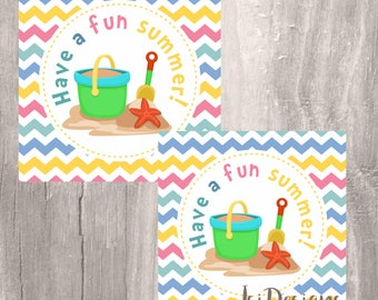Printable Favor Tags, End of School Tags, Summer fun, INSTANT DOWNLOAD Last Day of Schoo , Classroom Favors summer favor tags