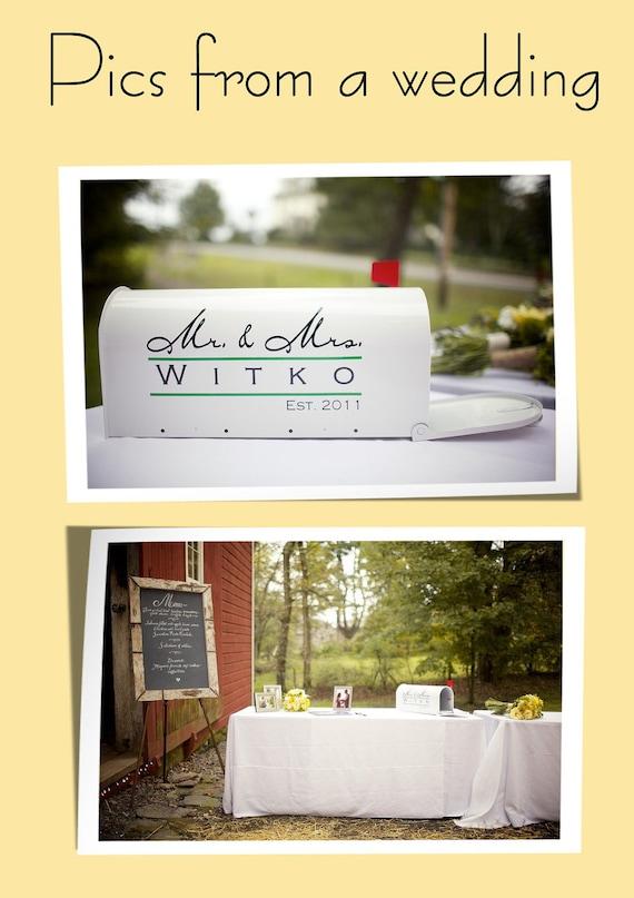 Wedding Mailbox Card Holder Card Boxes Mr. & Mrs.