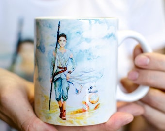 REY and BB-8 from Star Wars ( The Last Jedi ) Mug by Takila