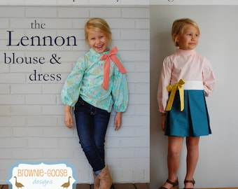 BG Originals Lennon Blouse & Dress pdf pattern