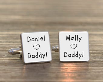 Personalised Daddy Cufflinks