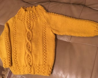Girl's Cabled Sweater