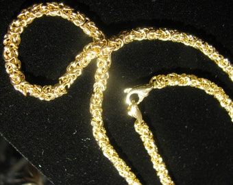 A 14 Kt. Solid Gold Handmade chain and clasp