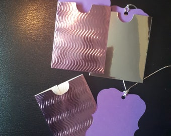 Pack of 3 gift tags each one in a little sleeve