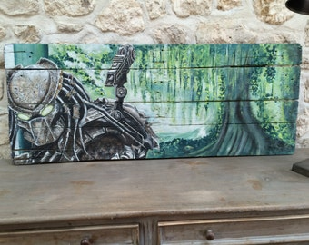 Original Predator on reclaimed pallet wood
