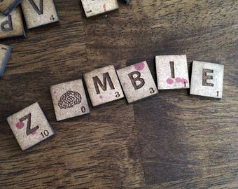 ZOMBIE Letter Tiles for Scrabble or Board Games